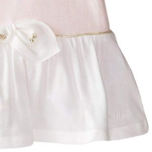 Chloe Dresses - Chloé Baby Girls' Jersey and Woven Bicolor Dress